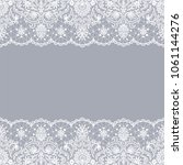 horizontally seamless gray lace ... | Shutterstock . vector #1061144276