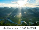 amazing landscape rice field on ...   Shutterstock . vector #1061148293