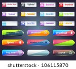 web elements shiny vector... | Shutterstock .eps vector #106115870
