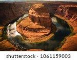 the horseshoe bend scenic view... | Shutterstock . vector #1061159003