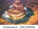 the horseshoe bend scenic view... | Shutterstock . vector #1061159006