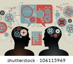 silhouette of the head  brain ... | Shutterstock .eps vector #106115969