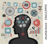 silhouette of the head  brain ... | Shutterstock .eps vector #106115993