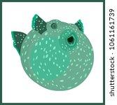 vector flat illustration with... | Shutterstock .eps vector #1061161739