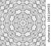 abstract halftone psychedelic... | Shutterstock . vector #1061164433