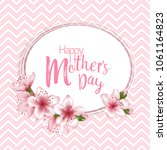 happy mother's day vector card. ... | Shutterstock .eps vector #1061164823