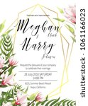 wedding invite template with... | Shutterstock .eps vector #1061166023