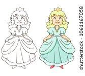 pretty princess character  ...   Shutterstock .eps vector #1061167058