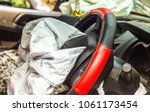 airbag exploded at a car... | Shutterstock . vector #1061173454