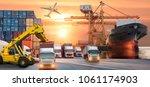 logistics and transportation of ... | Shutterstock . vector #1061174903