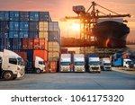 logistics and transportation of ... | Shutterstock . vector #1061175320