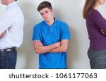 portrait of teenage boy... | Shutterstock . vector #1061177063