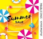 summer sale template banner....   Shutterstock . vector #1061178986