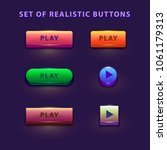 colorful game buttons. vector... | Shutterstock .eps vector #1061179313