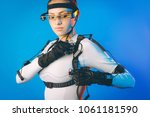 motion caption virtual reality | Shutterstock . vector #1061181590