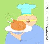 chicken and cook | Shutterstock .eps vector #1061182610