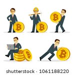 set of young businessman in... | Shutterstock .eps vector #1061188220