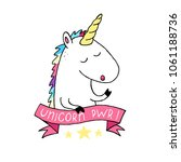 unicorn vector icon isolated on ... | Shutterstock .eps vector #1061188736