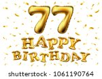 vector happy birthday 77th... | Shutterstock .eps vector #1061190764