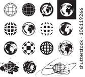 globe icons. vector globe sign... | Shutterstock .eps vector #106119266