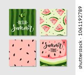 vector summer cards set with... | Shutterstock .eps vector #1061192789