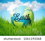 earth day illustration with... | Shutterstock .eps vector #1061193368