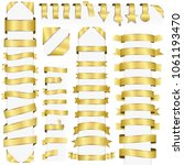 big collection of design retro... | Shutterstock .eps vector #1061193470