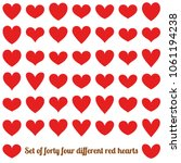 set of forty four different red ... | Shutterstock .eps vector #1061194238