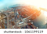 aerial view of kwai tsing... | Shutterstock . vector #1061199119