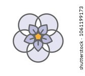 forget me not stylized flower... | Shutterstock .eps vector #1061199173