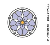 forget me not stylized flower... | Shutterstock .eps vector #1061199188