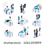 isometric tailor  a set of mini ... | Shutterstock .eps vector #1061205899