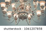 ceiling light chandelier | Shutterstock . vector #1061207858