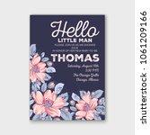baby shower invitation vector... | Shutterstock .eps vector #1061209166