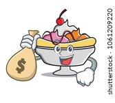 with money bag banana split...   Shutterstock .eps vector #1061209220