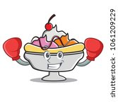boxing banana split character... | Shutterstock .eps vector #1061209229