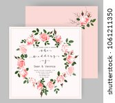 save the date card  wedding... | Shutterstock .eps vector #1061211350
