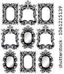 baroque frames set decor....   Shutterstock .eps vector #1061215139