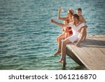 Happy Cheerful Family At The...