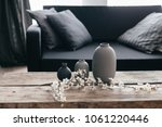minimalistic home decor on... | Shutterstock . vector #1061220446