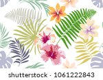 seamless botanical pattern with ...   Shutterstock .eps vector #1061222843