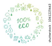 eco products logo concept with... | Shutterstock .eps vector #1061225663