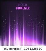 multi color audio waveform... | Shutterstock .eps vector #1061225810