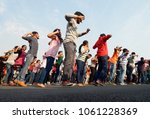 Small photo of HYDERABAD,INDIA-MARCH 27:People dance on road on Sunday morning up to 9 AM ,which are kept for open roads program with out vehicular traffic on March 27,2016 in Hyderabad