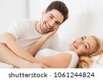 image of young loving couple...   Shutterstock . vector #1061244824