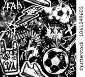 abstract seamless football... | Shutterstock .eps vector #1061249603
