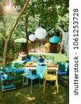 modern decorative balcony style.... | Shutterstock . vector #1061253728