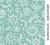 cartoon floral seamless pattern | Shutterstock .eps vector #106125668