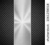 black technology background... | Shutterstock .eps vector #1061258018