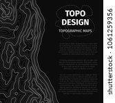 topographic map background with ... | Shutterstock .eps vector #1061259356